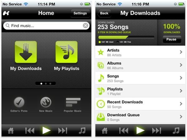 Kazaa iOS app