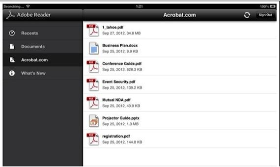 Adobe Reader for iOS